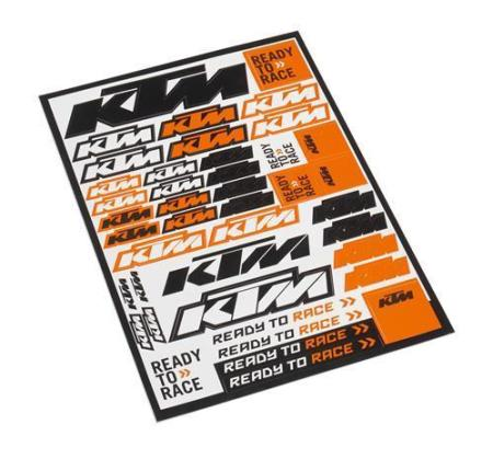 KTM LOGO STICKER SHEET